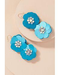 Serefina - Frantiska Floral Sequin Earrings - Lyst