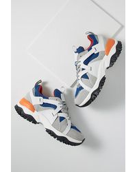 SELECTED Chunky Trail Trainers - Blue