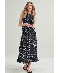 Kirei Smocked Maxi Dress - Black