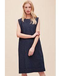 Kowtow Form Organic-cotton Denim Dress - Blue