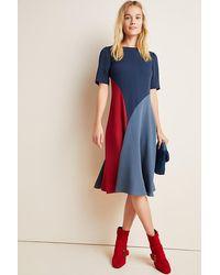 Anthropologie Emelina Mini Dress - Bleu
