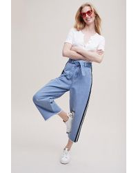 Maison Scotch - Jade Cropped Wide-leg Trousers - Lyst