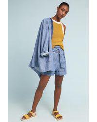 Mara Hoffman - Striped Linen Shorts - Lyst