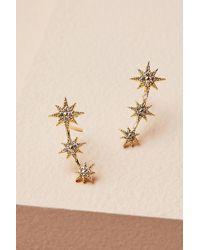 Anthropologie Tauri Crawler Earrings - Metallic