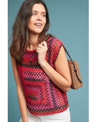 Moth - Roches Crocheted Tank Top - Lyst