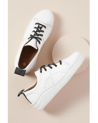 H by Hudson Sierra Leather Trainers - White