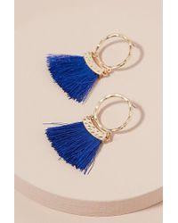 Anthropologie - Aime Tasselled Hoop Earrings - Lyst