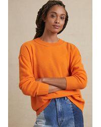 Pilcro Angie Seamed Cashmere Jumper - Orange