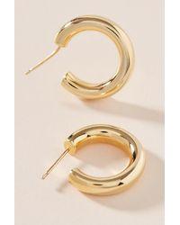 Anthropologie Mini anneaux d'oreilles - Métallisé