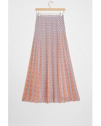 Maeve Thandie A-line Pleated Maxi Skirt - Rose