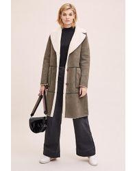Rino & Pelle Faux-shearling Reversible Jacket - Green
