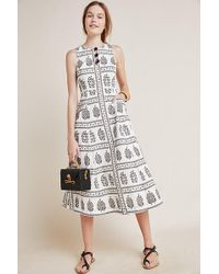 Anthropologie - Woodblock Midi Dress - Lyst