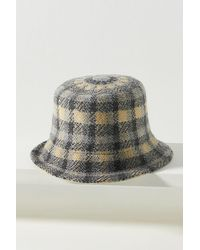 Anthropologie Chapeau cloche à carreaux - Multicolore