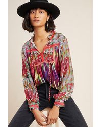 Conditions Apply Etienne Peasant Blouse - Red