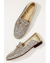 Sam Edelman - Becca Glitter-embellished Loafers - Lyst