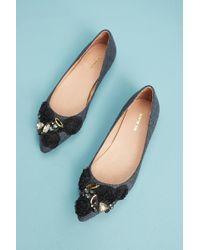 All Black | Flannel Almond-toe Flats | Lyst