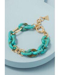 Anthropologie Bracelet à maillons colorés - Bleu