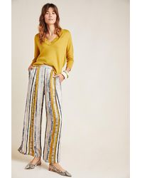 Conditions Apply Nell High-rise Wide-leg Trousers - Metallic