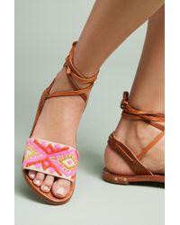 Beek - Toucan Tie-up Sandals - Lyst