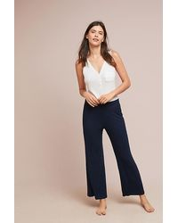 Saturday/sunday Ribbed Wide-leg Trousers - Blue