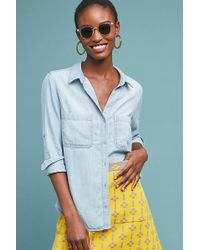 Cloth & Stone - Classic Chambray Shirt - Lyst