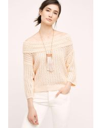 Knitted & Knotted - Gatienne Off-the-shoulder Top - Lyst