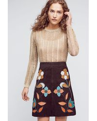 Moulinette Soeurs | Patchworked Suede Mini Skirt | Lyst