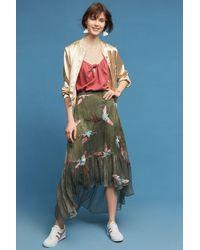 Eva Franco - Oiseau Embroidered Skirt - Lyst