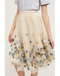 Not So Serious By Pallavi Mohan   Petaled Tulle Skirt   Lyst