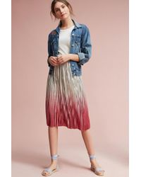 Seen, Worn, Kept - Ombre Pleated Skirt - Lyst