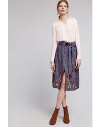 Banjanan - Embroidered Dahlia Skirt - Lyst