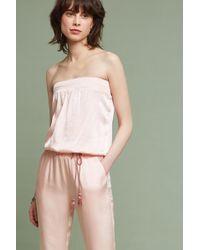 Drew - Shimmer Strapless Jumpsuit - Lyst