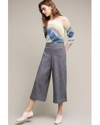 Elevenses   Cropped Boucle Wide-legs   Lyst