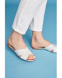 Vicenza | Cross Band Slide Sandals | Lyst