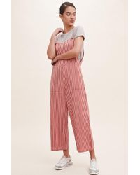 71382ca27207 Anthropologie - Striped Wide-leg Pinafore Jumpsuit - Lyst