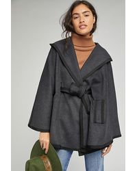 Anthropologie Ana Hooded Capelet - Black