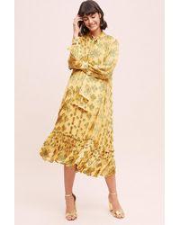 Second Female - Bianca Velvet-trimmed Dress - Lyst