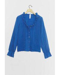 Amadi Alodia Ruffled Blouse - Blue