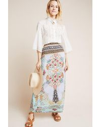 reliable reputation low cost hot-selling fashion Floral Maxi Skirt - Blue