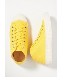 Anthropologie Canvas Tennis Trainers - Yellow