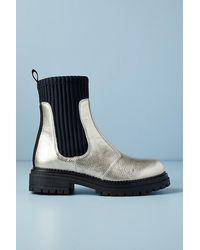 Anthropologie Georgia Gold Ankle Boots - Metallic
