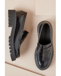SELECTED Penny Chunky Loafers - Black