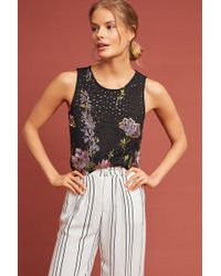 Meadow Rue - Harriet Embroidered Tank Top - Lyst