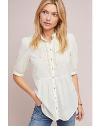Feather & Bone - Beatrice Lace Trimmed Blouse - Lyst