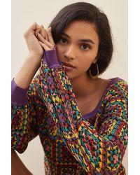FARM Rio Crochet Jumper - Purple
