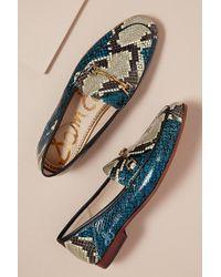 Sam Edelman - Snake Print Loafer - Lyst