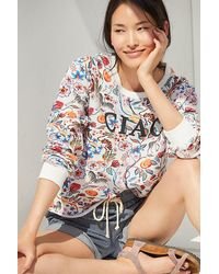 Maeve Ciao Floral Sweatshirt - White