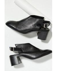 Miista - Signe Cut-out Leather Block Heels - Lyst