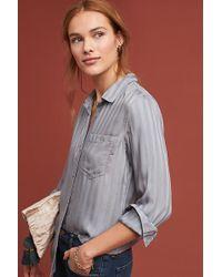 Cloth & Stone Grace Striped Shirt - Blue
