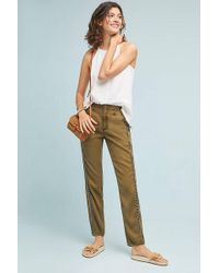 Anthropologie - Cedar Embroidered Joggers - Lyst